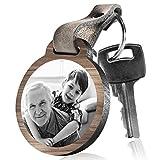 schenkYOU Schlüsselanhänger aus Holz Super Opa mit rückseitiger Fotogravur