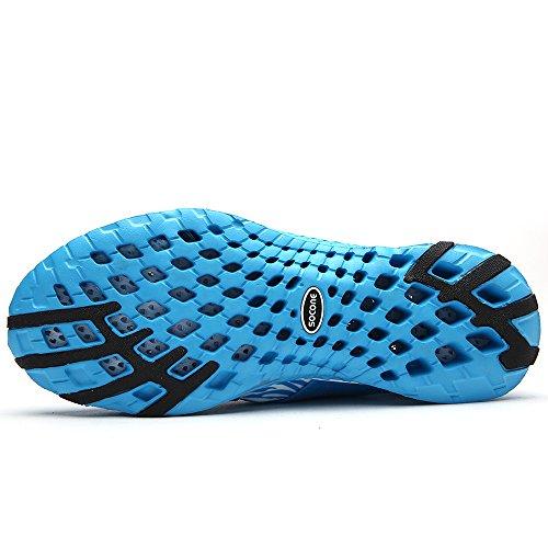 aleader Chaussures de marche à enfiler pour femme léger Eau Sneakers Bleu