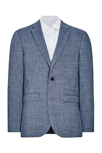 next Veste de costume en lin Coupe Ajustée Homme Bleu