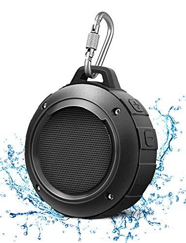 Wasserdicht Bluetooth Lautsprecher, LENRUE Wireless Portable Mini Dusche-Reiselautsprecher mit Subwoofer, verstärktem Bass, eingebautes Mikrofon für Sport, Pool,Strand, Wandern, Camping