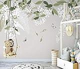 Papel Pintado Art Foto Mural Mariposa Flor Fresca Papel Tapiz Fotográfico Personalizado 3D Murales Grandes Sofá Dormitorio Moderno Pintura Mural Decoración Para El Hogar - 430x300CM(LxH)-XXXL