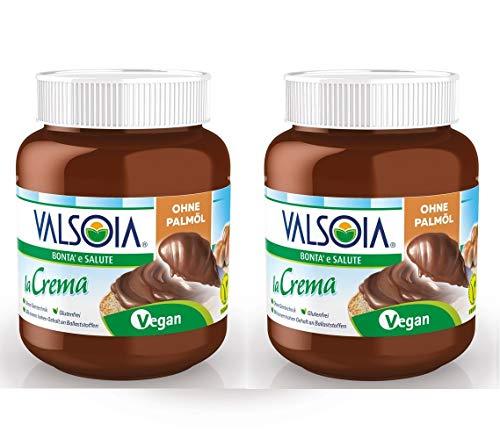 Valsoia la Crema | la crema vegana a diffusione 2x400g | Crema alla nocciola |