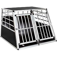 TecTake Transportín de aluminio para perros 97 x 90 x 69,5 cm DOBLE