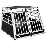 TecTake Cage Box Caisse de Transport pour Chien Mobile Aluminium - diverses Tailles au Choix - (Double/Grand | No. 400652)