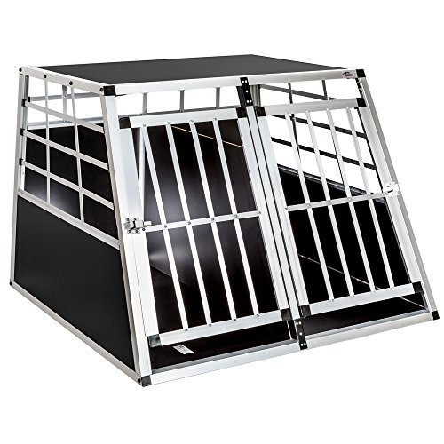 Tectake Hundebox/ Hundetransportbox mit Trennwand