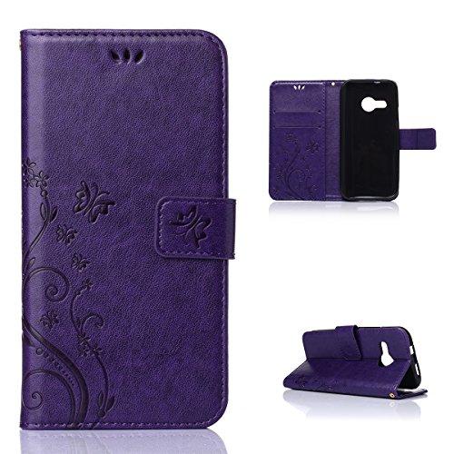 HTC One Remix Grip PU Leather Wallet Case Flip Kickstand Function Ultra Folio Flip Slim Card Holder Case Cover Wallet for HTC One Remix (Purple)