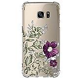 Pacyer Samsung Galaxy S7/S7 Edge Funda Cristal Claro Absorción TPU Parte Trasera Dura Anti-Estático Anti-Rasguño Anti-Golpes Refuerzo de Grosor Evitar Caídas Transparente (S7, 5)