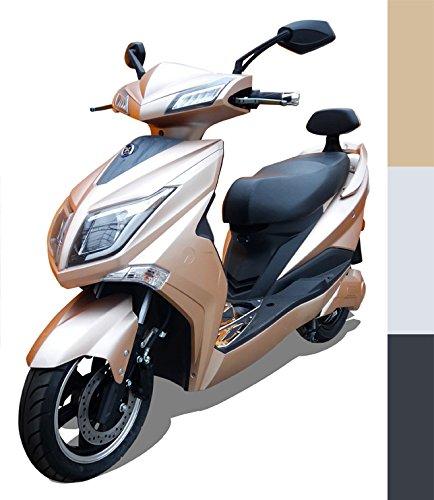 Elektroroller'Hawk 3000', 3000 W, 45 km/h, 3 mögliche Farben, Betriebskosten von ca. 85 Cent pro 100 Kilometer, steuerfrei, E Scooter, Garantie, kostenlose Probezeit, Gold