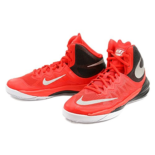 Nike Jungen Prime Hype Df Ii (Gs) Basketballschuhe Red/Black/Grey/Reflect Silver