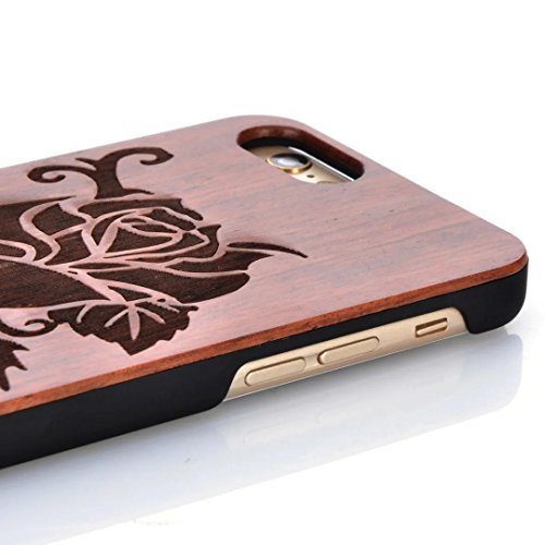 Housse pour iPhone 7, Vandot Bois Naturel Sculpté Wood Case Antidérapant Antichoc Anti-rayures Coque Etui Shell pour iPhone 7 4.7 Pouces Créatif Intéressant Motif Tape Case Cover Hull avec PC Bumper D Modèle 03
