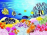 Bilderdepot24 Vlies Fototapete - Leben im Meer Cartoon - 360x270 cm - mit Kleister - Poster - Foto auf Tapete - Wandbild - Wandtapete - Vliestapete