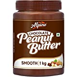 Alpino Chocolate Peanut Butter Smooth 1 KG | Made with High Quality Roasted Peanuts, Cocoa Powder & Choco Chips | 100% Non-GMO | Gluten-Free | Vegan