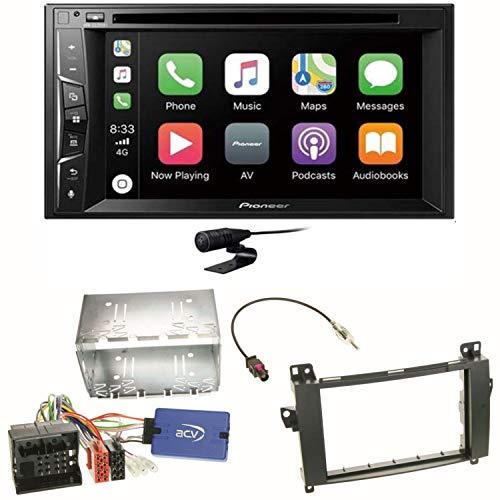 Pioneer AVH-Z2200BT USB Bluetooth Carplay Autoradio Touchscreen Moniceiver Freisprecheinrichtung Weblink WAV Flac MP3 CD DVD Einbauset für Mercedes Viano Vito W639