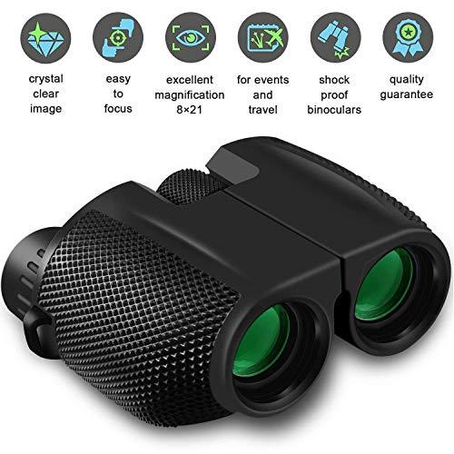 LIJJY 10x25 Mini Binocular mit Nachtsicht,Fernglas Kompakt Wasserdicht klappbare leichte für Erwachsene Kinder Vogelbeobachtung Gestochen Scharfe HD Weitsicht