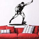 82X86 Cm Ballon De Rugby Avec Joueur Objectif Coup De Pied Rugby Mur Autocollant Gym Sports Art Déco Applique Papier Peint Pour Garçon Chambre Décor À La Maison