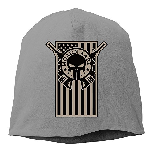50b18e9f947 Stylish American Flag Molon Labe Punisher Slouchy Skull Beanie Hat  DeepHeather
