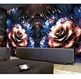 3D Fototapete Blume Schöne 3D Schlafzimmer Tapete Für Ktv, Bar, Café, Hotel Home Decor Walpaper Modern, 260X180 Cm (102,36X70,87 In)