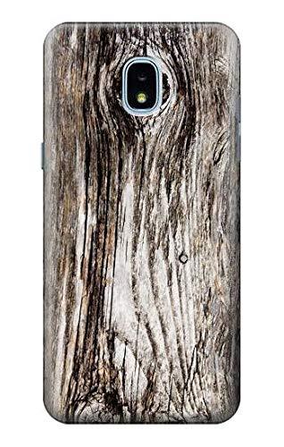 Innovedesire Old Wood Bark Printed Hülle Schutzhülle Taschen für Samsung Galaxy J3 (2018), J3 Star, J3 V 3rd Gen, J3 Orbit, J3 Achieve, Express Prime 3, Amp Prime 3 -