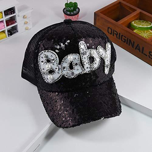 Strass Kostüm Cowgirl - mlpnko Kinder Bühne Leistung Pailletten Hut Kinder Strass Buchstaben Sonnenhut Baby Netzkappe schwarz einstellbar