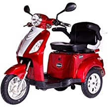 Rolektro S de Trike 25con EU Autorización eléctrico Roller S de scooter Motor de 600W 50km Alcance 25Kmh höschst velocidad eroller S de Roller eléctrico de patinete scooter eléctrico Triciclo de 3ruedas, rojo, E-Trike 25 Blau