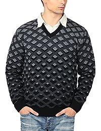 aarbee Men's V-neck Long Sleeve Regular Fit Sweater
