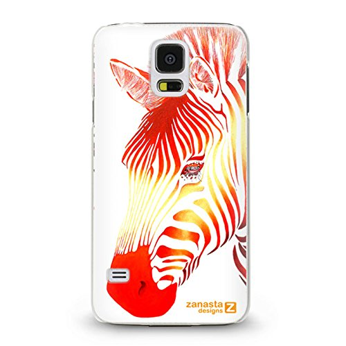 Red Zebra Cover (Zanasta Designs Schutzhülle Samsung Galaxy S5 / S5 Neo Hülle Case Slim Cover mit Motiv Red Zebra)