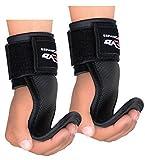 evo Gewichtheben Gummi Pads Gym Träger Handgelenkbandage Wraps Grips aus