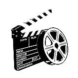 VORCOOL Stickers muraux Signe de cinéma Salle Amovible PVC Mur Boutique Decor 58x63cm Noir...