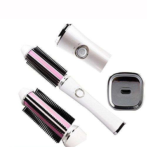 kabellos USB-Aufladung Gelockter Haarkamm Verletzte das Haar nicht Multifunktion Anti-Heiß Elektrische Haarstöcke Lockenstab Zauberstab Chi
