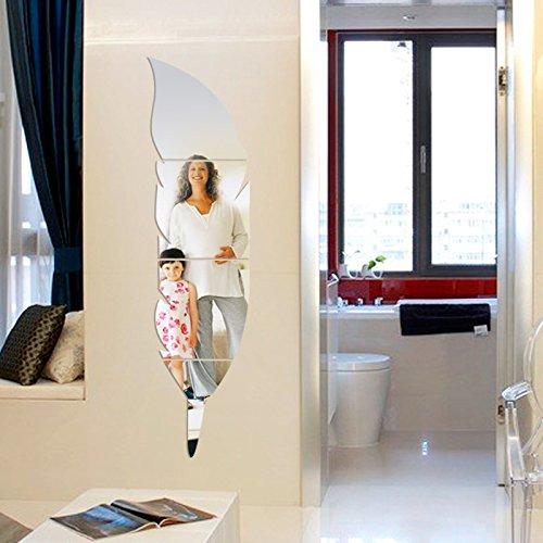3D Miroir Miroir Peintures Autocollant Murale Adhésif Art Moderne Miroir Bricolage  Décoration Maison Déco
