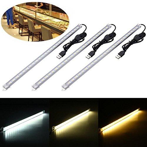 Bazaar 35CM 7W 24 SMD 5630 USB wiederaufladbare LED starre Streifen harte Bar Licht Tube Lampe DC5V (Starre Led-licht Bar)