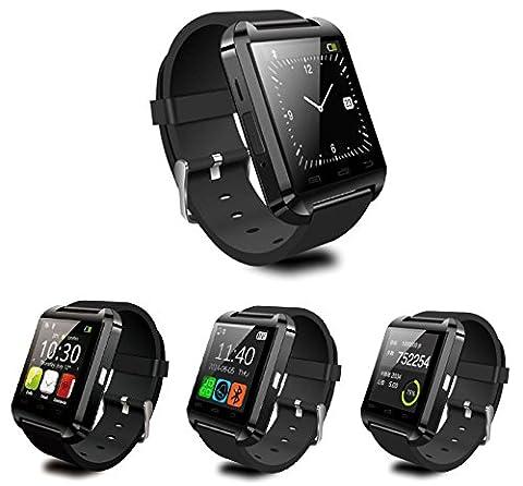 ONEKLICK Universal Smart Watch Bluetooth Armband Uhr Smart Gear für Apple iPhone 4 / 4s / 5 / 5s / 5c / 6 und 6 Plus inkl. Ladekabel kompatibel mit allen Bluetoothfähigen Geräten
