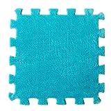 Hunpta 6 Stück EVA Eco Puzzle Teppich Mosaik Fliesen Wohnzimmer Kissen Nachttisch Teppich (Blau)