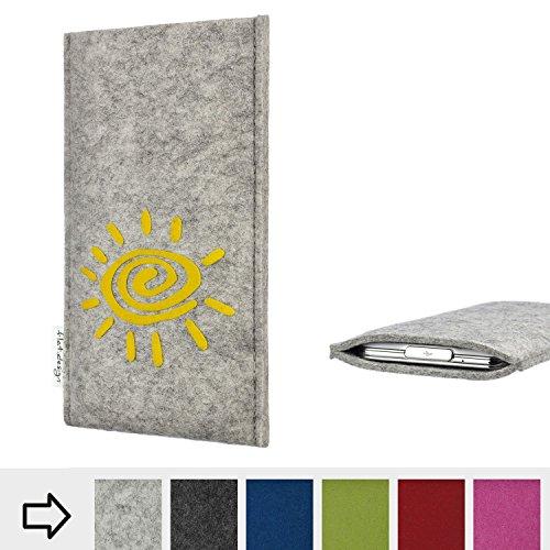 flat.design Handy Hülle für Energizer P20 FARO mit Sonne Filz Schutz Tasche Etui Made in Germany fair