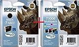 Epson T1001 + T1006 Set Satz (BK + C/M/Y) Nashorn Big Multipack, 4-farbig - Epson Stylus SX600FW; Stylus Office B40W,BX600FW
