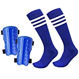 chenyee Youth Shin Guards for Kids Protective Gear Soccer Protector Knee High Socks