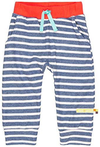 loud + proud Jungen Hose Ringel, aus Bio Baumwolle, GOTS zertiziziert, Blau (Ultramarin Ul), 116 (Herstellergröße: 110/116) Kind-jersey-hose