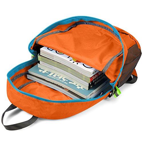 Gonex Unisex 20 Liter Faltbarer Rucksack Leichter Tagesrucksack, für Outdoor Wandern Reisen Orange