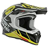 Astone Helmets Casco Moto MX800 Graphic TROPHY Casco Moto Cross Wide Vision, Casco Cross in Policarbonato Design - Black