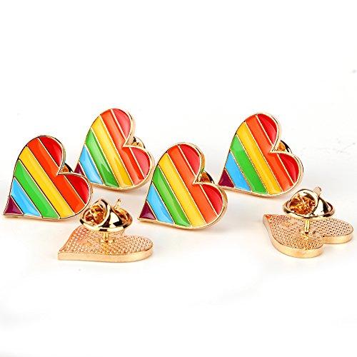 Gay Pride Brosche Regenbogen Pin LGBT Zubehör Pride Liebe Herz Anstecker Homosexuell Stolz ()