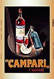 Campari Aperitif blechschild, tin sign, geschenk,