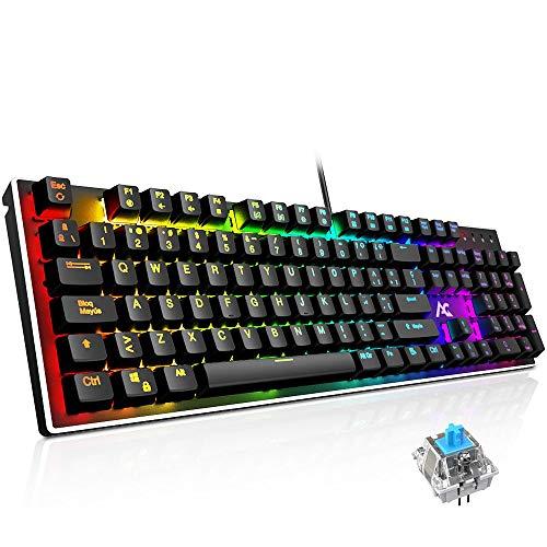 Teclado Mecánico Gaming ACGAM AG-109R 105 Teclas y Switches Blue,100% Anti-Ghosting RGB...