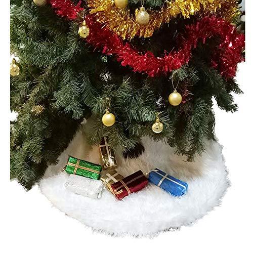 Eanpet Weihnachtsbaum-Rock mit Fell, Weihnachtsbaum-Matte, Rein Kunstteppich für Zuhause, Party, Dekoration, Ornamente 36 inch weiß