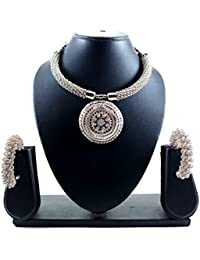 Luxaim Stylish Latest New Stylish Fashionable Gold-Plated Traditional Necklace Set With Earrings, Designer Necklace...