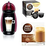 Pack Cafetera De'Longhi Dolce Gusto Piccolo (rojo) + 3 packs café Dolce Gusto