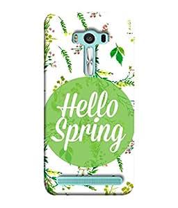 PrintVisa Designer Back Case Cover for Asus Zenfone 2 Laser ZE500KL (5 Inches) (Hello Spring Round Shape Flowing Flowers)