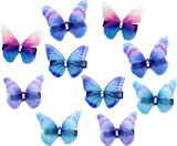 10 Stk Damen Baby Mädchen Hhaarclips Strass Schmetterling Haarschmuck Snap Clip Haarspange für Klein kinder
