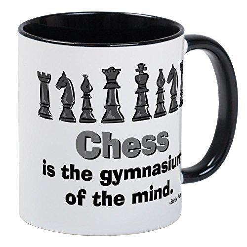 Taza divertida jugador de ajedrez