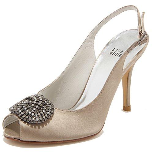 86095 sandalo STUART WEITZMAN SWIRLSLING scarpa donna shoes women [37]