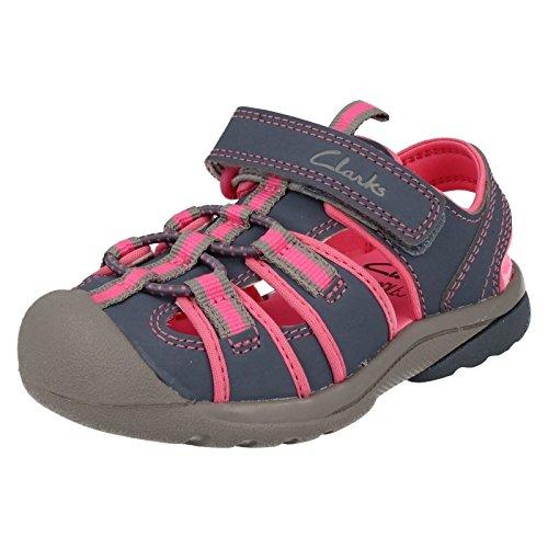 Clarks  Beach Tide Inf, Mädchen Sport- & Outdoor Sandalen grau grau, grau - Keine Angabe - Größe: 28 EU